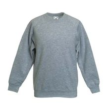 Fruite of the Loom Kinder Raglan Sweatshirt, Graumeliert, Gr.140