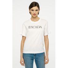Escada T-Shirt mit dekorativen Kristallsteinchen