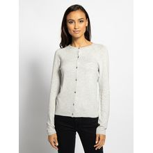 Oui Strickjacke in grau für Damen