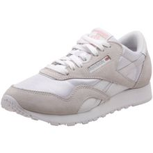 Reebok Damen Classic Nylon Sneakers, Weiß (White/Light Grey), 35 EU