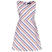 Taifun Kleid Langarm kurz Ärmelloses Kleid mit Streifen weiß/grau Damen