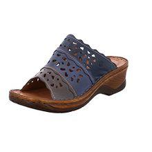 Josef Seibel Clogs Damen 56526-950 Catalonia 60 Leder Pantoletten, Blau (Ocean-Multi), 38 EU