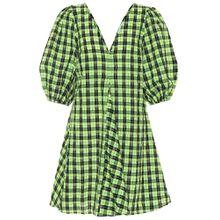 Kariertes Kleid aus Seersucker