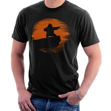 Kung Fu Panda Silhouette Sunset Men's T-Shirt