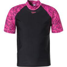 SPEEDO Schwimmshirt pink / schwarz