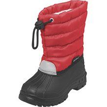 Playshoes Winterstiefel, Moonboots, Schneeschuhe für Kinder, mit Warmfutter, Mädchen Schneestiefel, Rot (8 Rot), 24/25 EU