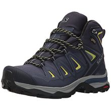 Salomon Damen Multi-Stiefel X Ultra 3 Mid GTX Women Trekking-& Wanderstiefel, Blau (Crown Blue/Evening Blue/Sunny Lime 000), 42 2/3 EU