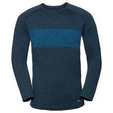 Vaude - Base L/S Shirt - Merinounterwäsche Gr XXL schwarz;blau/schwarz