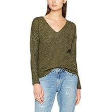 TOM TAILOR Damen Pullover Easy Loose Mouline Sweater, Beige (Tarmac Khaki 7579), X-Large