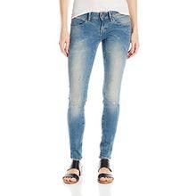 G-STAR Damen Super Skinny Jeanshose 60901 Midge Zip Low - Blossom superstretch, Gr. W32/L32, Blau (Med Agd Rsrd 12 5169.5546)
