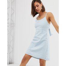 Noisy May - Minikleid mit Schnürung hinten und Vichy-Karos - Mehrfarbig