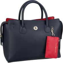 Tommy Hilfiger Handtasche Charming Tommy Satchel 6463 Tommy Navy/Tommy Red (innen: Rot)