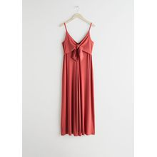 Tie Up Flared Jumpsuit - Red