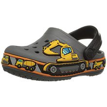 crocs Crocband Fun Lab Graphic Clog Kids, Unisex - Kinder Clogs, Grau (Slate Grey), 33-34 EU