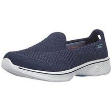 Skechers Damen Go Walk 4-Kindle Sneakers, Blau/Weiss NVW, 37 EU