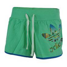adidas Short MI Placement Originals Shorts Womens Damen Sportshorts Mintgrün, Grösse:L - 44