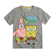 Sponge Bob Jungen T-Shirt - grau - 140