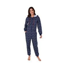 Damen Jumpsuit langarm, toller Einteiler Overall zum chillen 59534, Größe:36/38;Farbe:navy