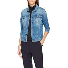 Tommy Jeans Damen Jeansjacke Tjw Vivianne Slim Trucker Jacket, Blau (Denver Light Blue Comfort 911), Large
