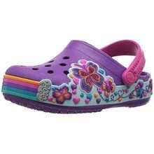 crocs Crocband Fun Lab Graphic Clog Kids, Unisex - Kinder Clogs, Violett (Amethyst), 32/33 EU