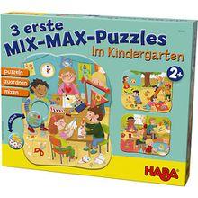 3 erste Mix-Max-Puzzles - Im Kindergarten