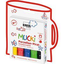 Mucki Porzellan-Pirat Porzellanmalstifte, 5 Stück