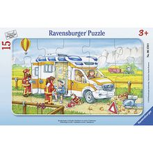 Rahmen-Puzzle, 15 Teile, 25x14,5 cm, Krankenwagen im Einsatz