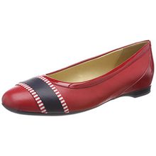 Geox Damen D Lamulay C Geschlossene Ballerinas, Rot (Red/Navy), 39 EU