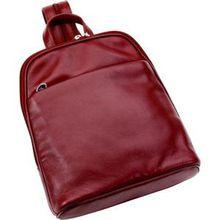 Hans Kniebes HK-Style Handtaschen & Rucksäcke Rucksack, Nappa-Vollrindleder, 275 x 245 x 80 mm bordeaux 1 Stk.