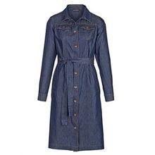 Amy Vermont Damen Jeanskleid mit durchknöpfbarer Knopfleiste