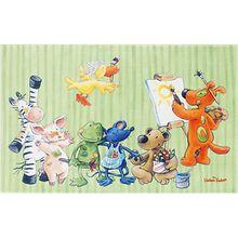 Kinderteppich Die Lieben Sieben, grün, 100 x 160 cm