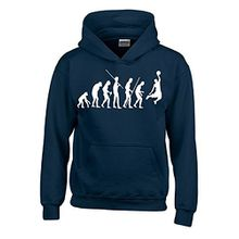 BASKETBALL Evolution Kinder Sweatshirt mit Kapuze HOODIE navy-weiss, Gr.152cm