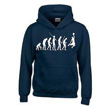 BASKETBALL Evolution Kinder Sweatshirt mit Kapuze HOODIE navy-weiss, Gr.152cm
