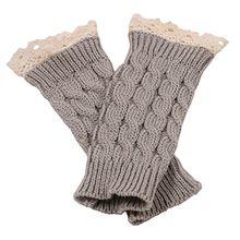 Bluelans® Armstulpen Pulswärmer lang fingerlos Handschuhe Damenhandschuhe Winterhandschuhe Fäustlinge Fausthandschuhe (Hellgrau)