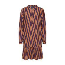 ICHI Blusenkleid MARGIT Blusenkleider orange Damen