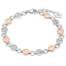 S.Oliver RED LABEL Armband mit Swarovski® Kristallen rosegold / silber