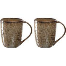 LEONARDO 2er-Set Keramik Tassen, 430 ml beige