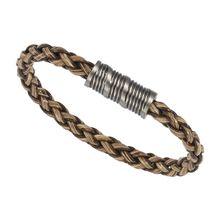 ZEEme Stainless Steel Armband EdelstahlArmbänder braun Damen
