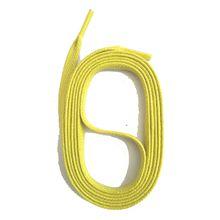 SNORS shoefriends Schnürsenkel flach gewachst 90-130cm, 5mm aus Baumwolle Schnürsenkel gelb