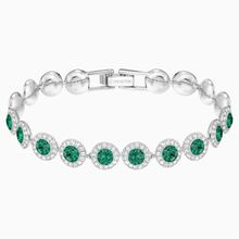 Angelic Armband, grün, rhodiniert