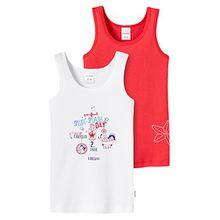 Schiesser Mädchen Unterhemd 2pack Hemd 0/0, Gr. 104, Mehrfarbig (sortiert 1 901)