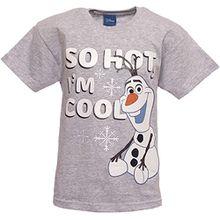 Shirt für Jungen, Motiv: Olaf aus Die Eiskönigin, verschiedene Designs (in englischer Sprache) Gr. 7-8 Jahre, grau