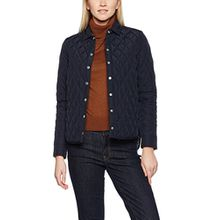 GANT Damen Hemd Women's Shirt Jacket, Blau (Marineblau), Gr. Small