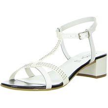 Vista Damen Sandaletten Nieten weiß, Größe:39, Farbe:Weiß