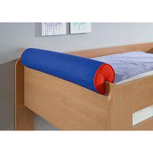 Nackenrolle, blau/rot, 80 x 16 cm