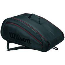 Wilson - Fed Team 12 Pack Tennistasche (grau/schwarz)