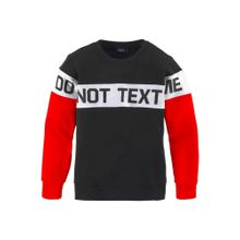 BUFFALO Sweatshirt 'DO NOT TEXT ME' hellrot / schwarz