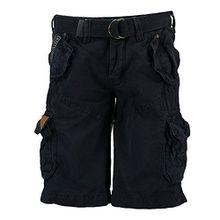 Geographical Norway Herren Cargo Shorts kurze Bermuda Hose Polish Men Navy (dunkel blau), Größe:S