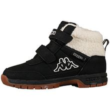 Kappa BRIGHT MID FUR KIDS, Unisex-Kinder Kurzschaft Stiefel, Schwarz (1143 black/offwhite), 34 EU (1.5 Kinder UK)