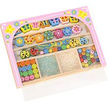 Holzfädelperlen Party Beads, sortiert